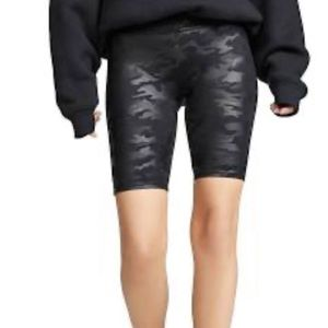 Spanx Faux Leather Camo Shorts, size L